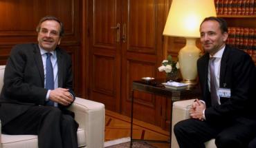 Samaras Snabe meeting