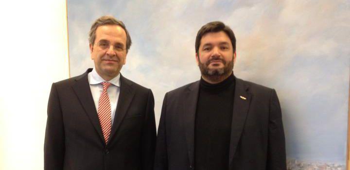 Antonis Samaras (left) with Failos Kranidiotis