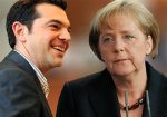 Alexis Tsipras and Angela Merkel