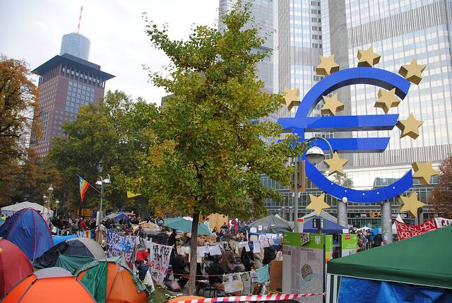 Κεντρικά γραφεία της Ευρωπαϊκής Κεντρικής Τράπεζας στην Φρανκφούρτη