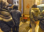 Wolfsangel spray painted outside Kiev city hall during Euromaidan protests