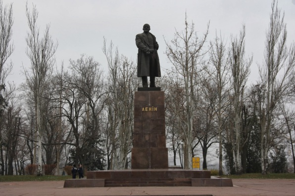 Statue of Lenin in Nikolaev prior to Euromaidan
